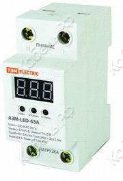 Реле напряжения АЗМ LED-63А-220В TDM Electric SQ1504-0020 фото главное